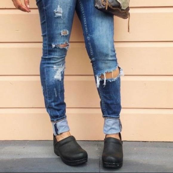 Comfort Black Oiled Clogs Shoe | Poshmark